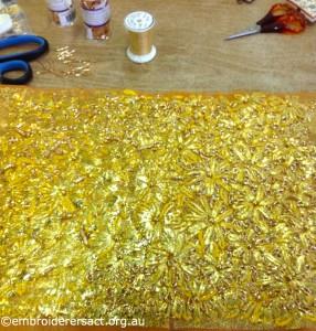 Margaret Lamond - Gold embroidery in progress