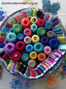 Platter of thread