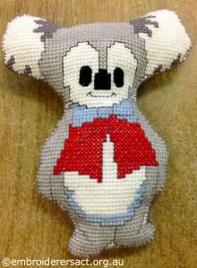 Ruth Jackson - x-stitch koala softie