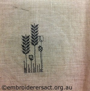 Blackwork stitched by Lel Whitbread