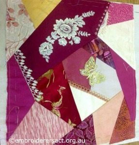 Crazy Patchwork Block 2 by Fran Novitski