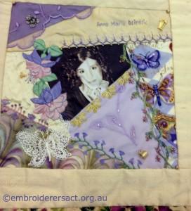 Crazy Quilt Block 1 by Annette Dziedzic