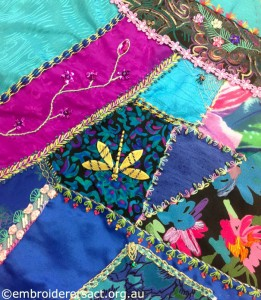 Crazy Quilt Block 2 by Pat Bootland