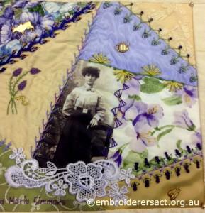 Crazy Quilt Block 4 by Annette Dziedzic