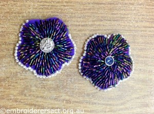 Dorothy Rudling Beaded Flowers