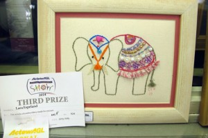 Elephant with Canberra Show Prize Ribbon by Lara Espeland