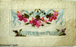Embroidered WW1 Postcard 2 taken by Stewart Bath