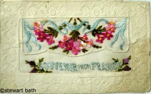 Embroidered WW1 Postcard 2 taken by Stewart Bath