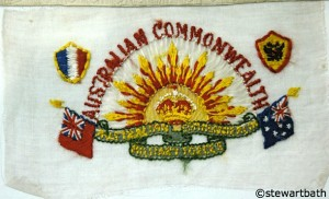 Embroidered WW1 Postcard from Clairmont RSL - image by Stewart Bath