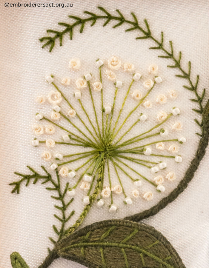 Beaded & Stitched Flower