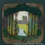 Embroidered scene of Fountain Abbey