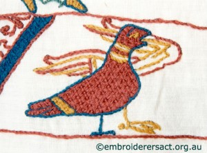 Bird 2 from Bayeux Panel stitched by Gail Haidon