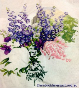 Bouquet of Flowers x-stitched by Samantha Benda
