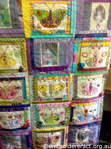 Butterfly Quilt in Progress by Dorothy Rudland