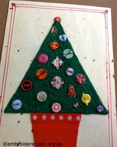 Button Xmas Tree by Glenda Hudson