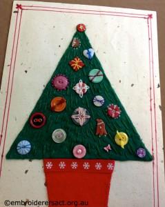Button Xmas Tree by Glenda Hudson