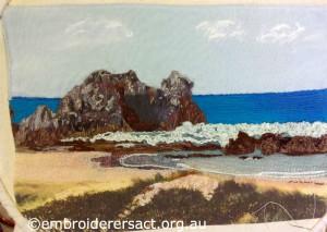 Contemporary Seascape by Agnes Scibberas