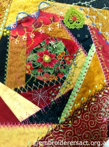 Crazy Quilt Block by Lee Scott