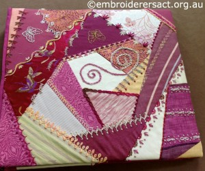 Crazy Quilt Folder by Fran Novitski