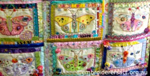 Detail of Butterfly Quilt in Progress by Dorothy Rudling