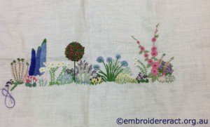 Diana Lampe Embroidery in Progress by Rosie Collis