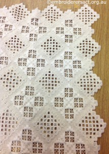Hardanger Tablecloth Corner by Brenda Phillips