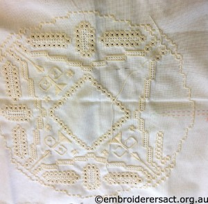 Hardanger in Progress by Germaine Esther
