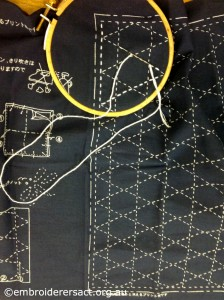 Sashiko in Progress by Jan Senti