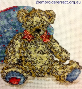 Teddy Bear x-stitched by Jan Senti