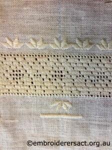 Ukrainian Embroidery in Progress by Nan Horne
