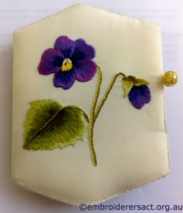Violet Threadpainting by Rosa Stanford