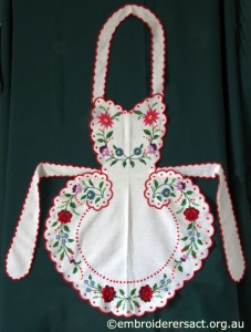 Apron with Hungarian Embroidery belonging to Elizabeth Hooper