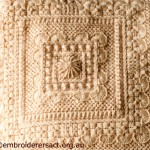 Centre Square of Aran Cushion