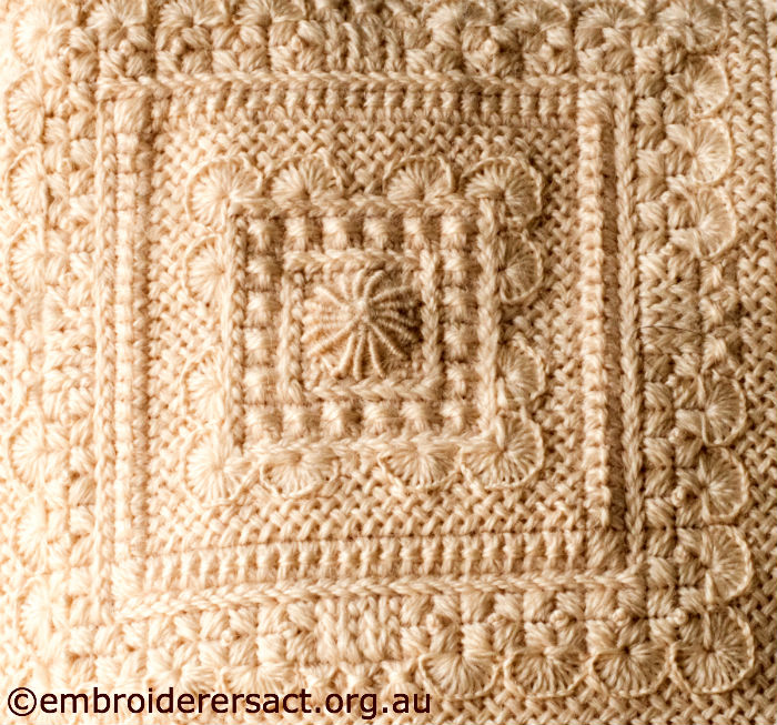 Knitting Stitch Like A Knot Crossword : Wheat Stitch   Embroiderers Guild ACT