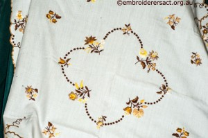 Centre of Tablecloth with Hungarian Embroidery belonging to Elizabeth Hooper