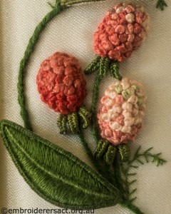 Clover from Jane Nicholas Mirror 2 stitched by Lorna Loveland