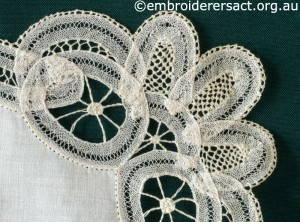 Detail 3 from Tape Lace Doyley made by Margaret Thompson