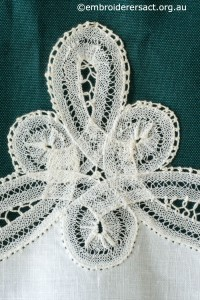 Detail 4 from Tape Lace Doyley made by Margaret Thompson
