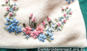 Detail 6 of Embroidered Teddt Bear Pyjama Case by Marjorie Gilby