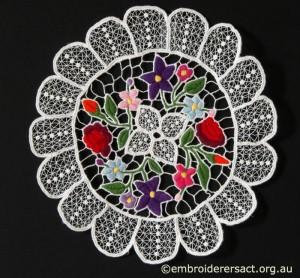 Kalocsa Hungarian Embroidery Doyley 2 belonging to Elizabeth Hooper