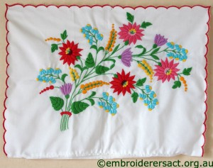 Pillowcase with Hungarian Embroidery belonging to Elizabeth Hooper