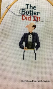 Butler x stitch by Doreen McGregor