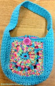 Crocheted Bag 1 by Irene Burton