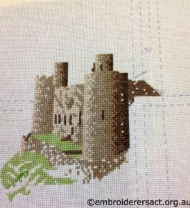 Harlech Castle X stitch by Gwyneth Peddey