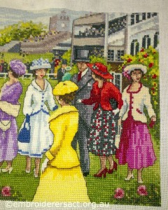 Races X stitch panel 1 by Sharon Burrell