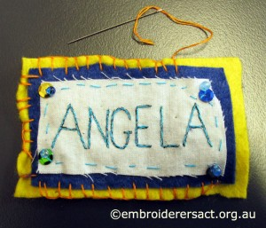 Angelas Name Tag