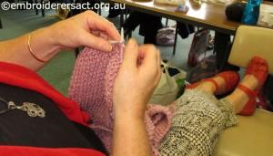 Antoinette knitting scarf
