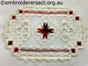Christmas Ornament 4 stitched by Jillan Bath