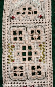 Detail 4 of Hardanger Needle Roll stitched by Jillian Bath