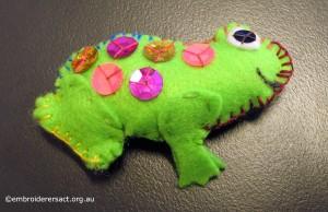 Frog Feltie by Melanie